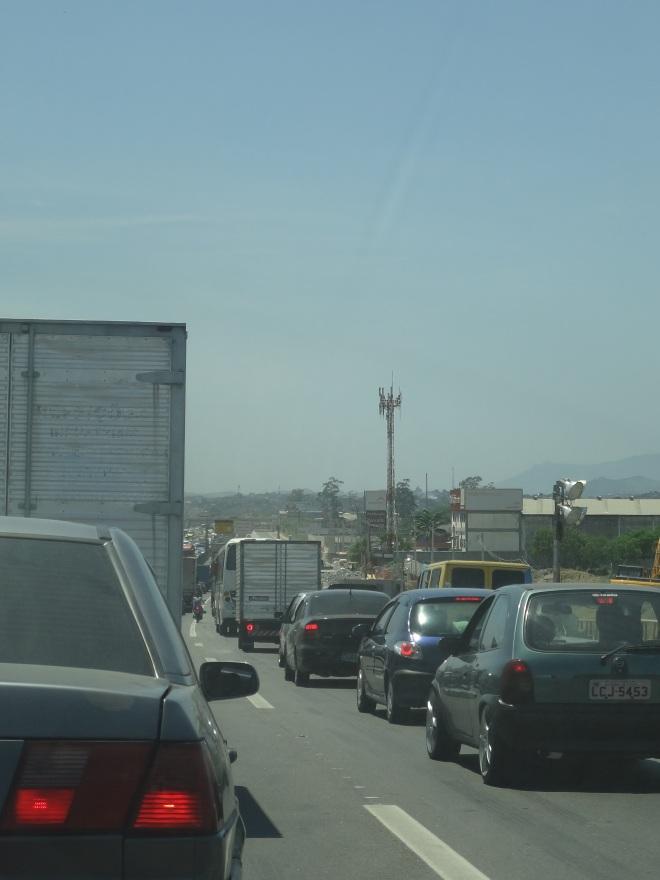 Traffic into Rio