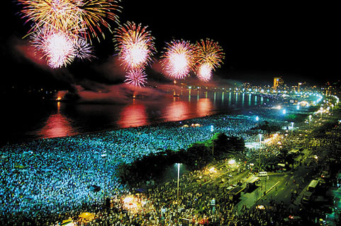 Copacabana at New Year's Eve