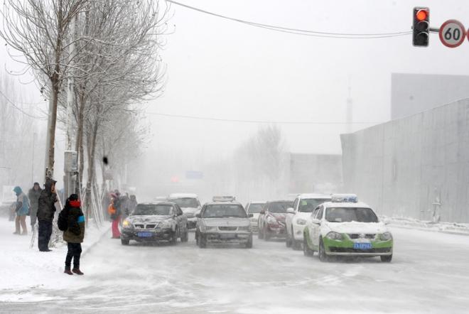 Blizzard in Shenyang December 3, 2012