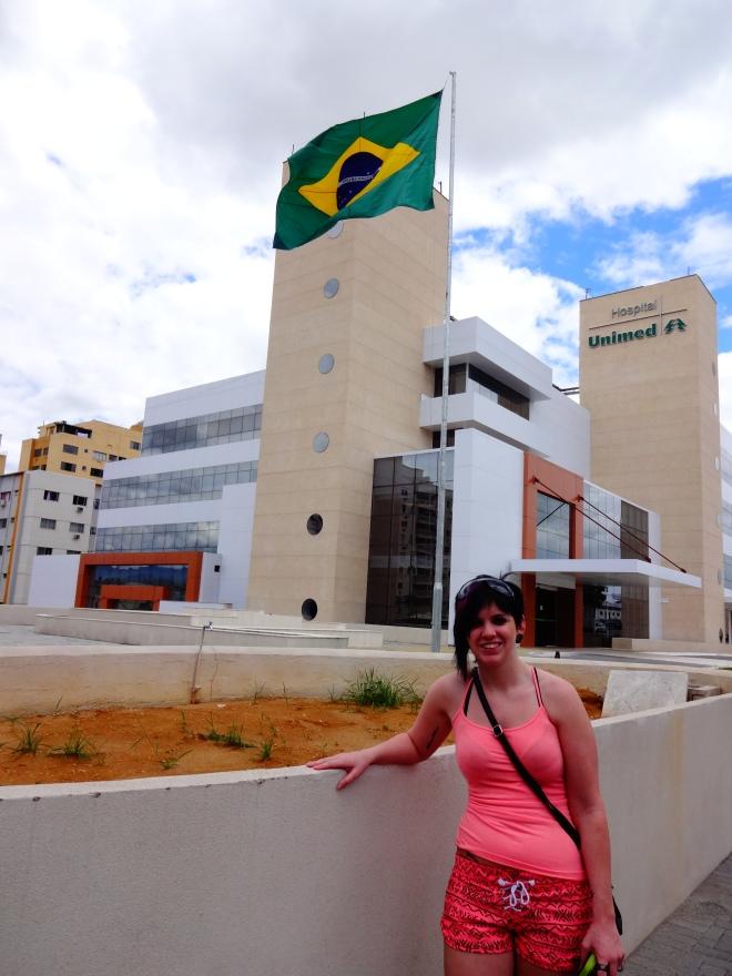 Yes she is in Brazil!