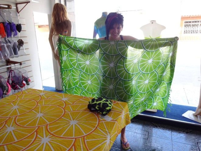 "A lime sarong for ""Lola Lime"""
