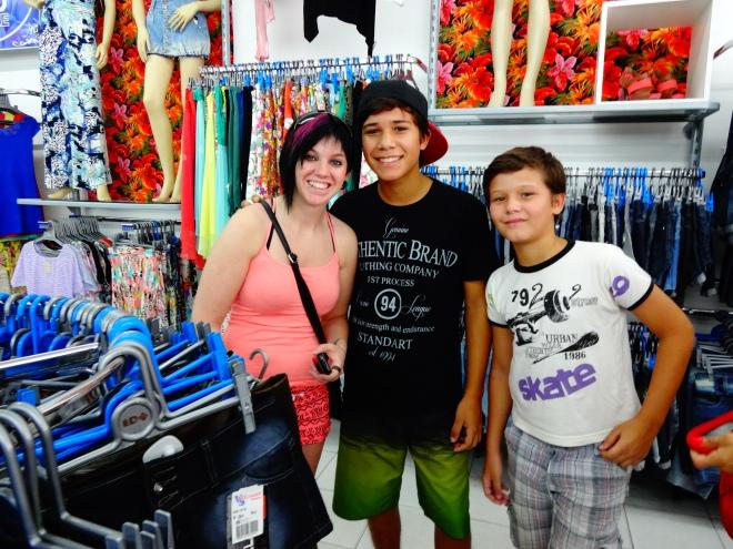 Laura with Eduardo and Hugo