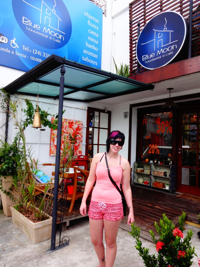 Laura outside Blue Moon~ A great decor store and cafe