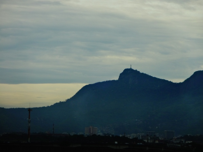 Christ statue off in the distance. Early morning in Rio!