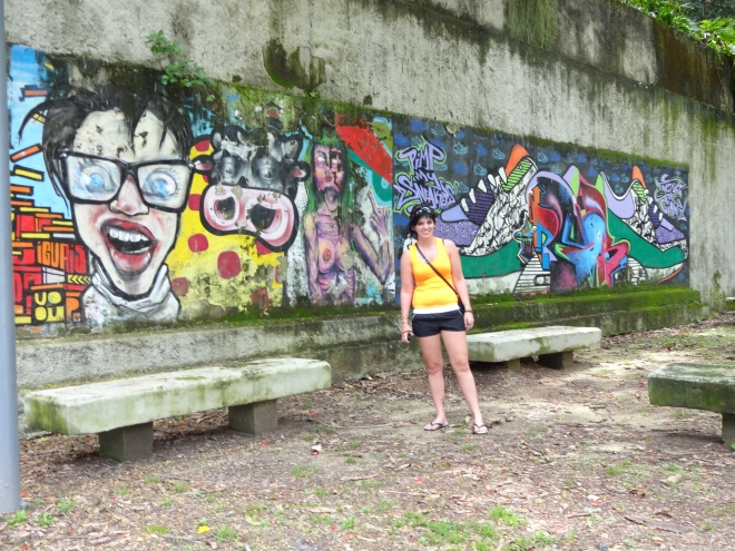 Our artsy girlie is lovin' all the graffiti in Rio!
