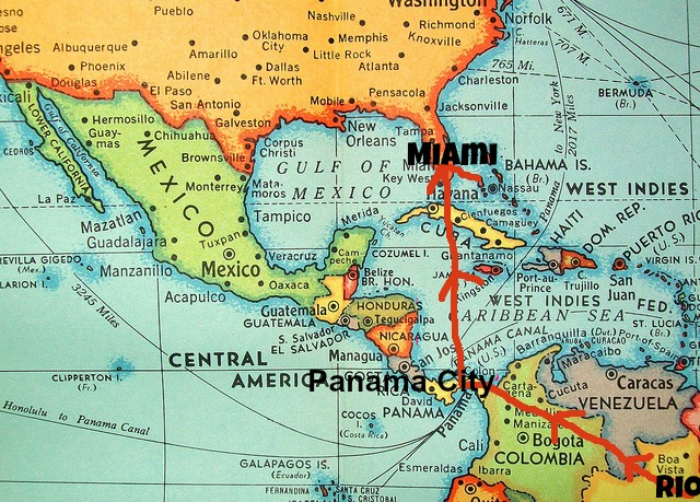 Rio to Panama City and on to Miami