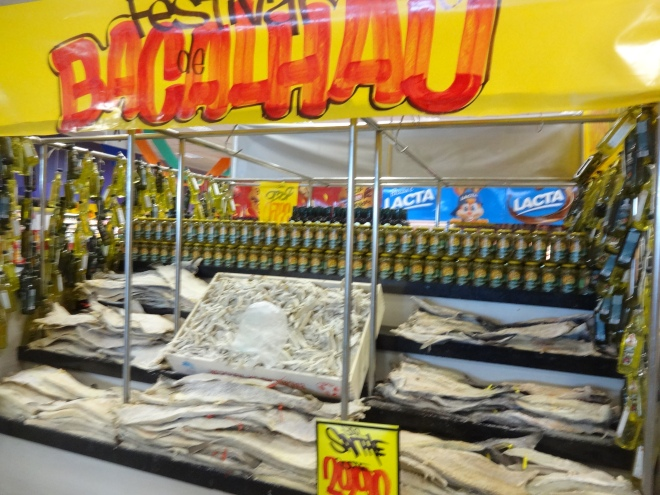 Every supermarket has salt cod fish displays for Easter- yuck!!