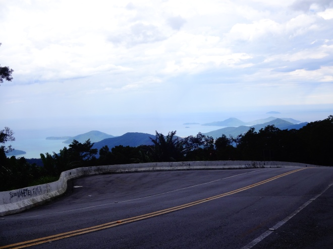 Ubatuba in the distance. Now to go down the mountain