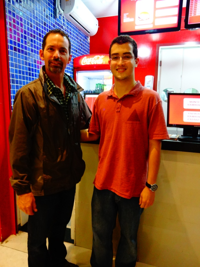 David with the young owner of YOUBURGER