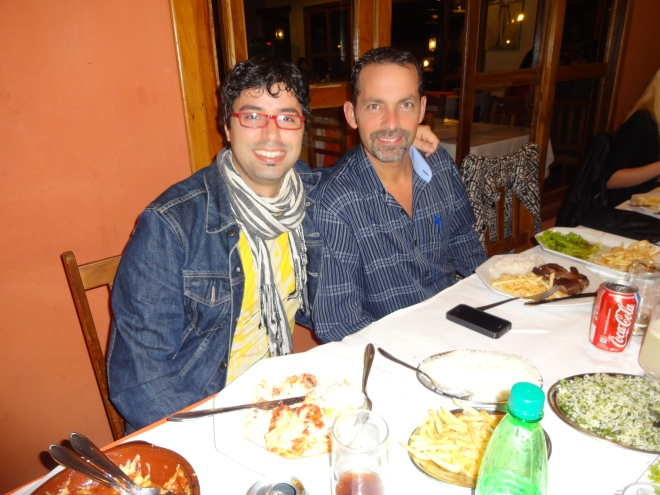 Massimo with David. Marghereita  is home in Italy for 2 months