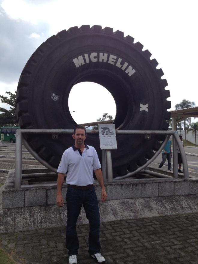 David with Michelin Tire