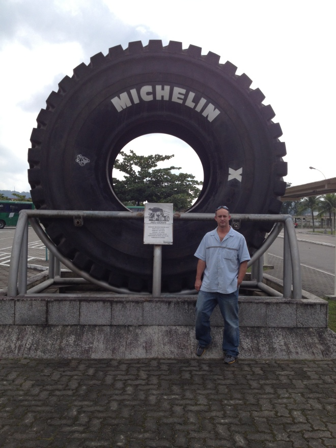 Glen with a Michelin tire