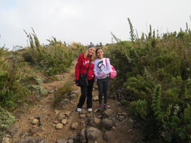 Gabi and I ready to hike the trail