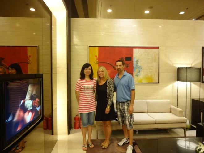 Sylvia with David & I