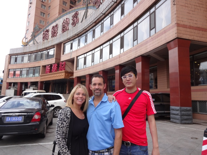 David & I and our driver Wang at the restaurant