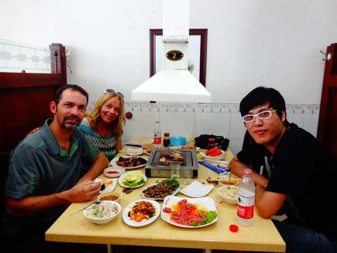 Korean BBQ with Wang :)