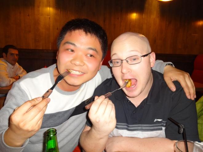 Gotta have poutine! Chris & Liu Fu Shu