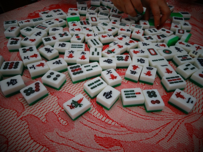 Mahjong tiles. Guess I need to purchase a game now.