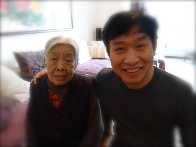 Wei Quan with his sweet Mother- So happy I got this last picture for him of them together.