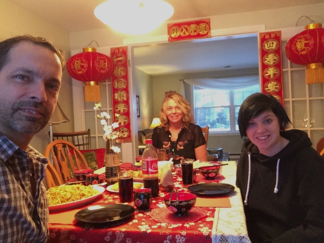 Our Family Dinner ( James' had a previous engagement)